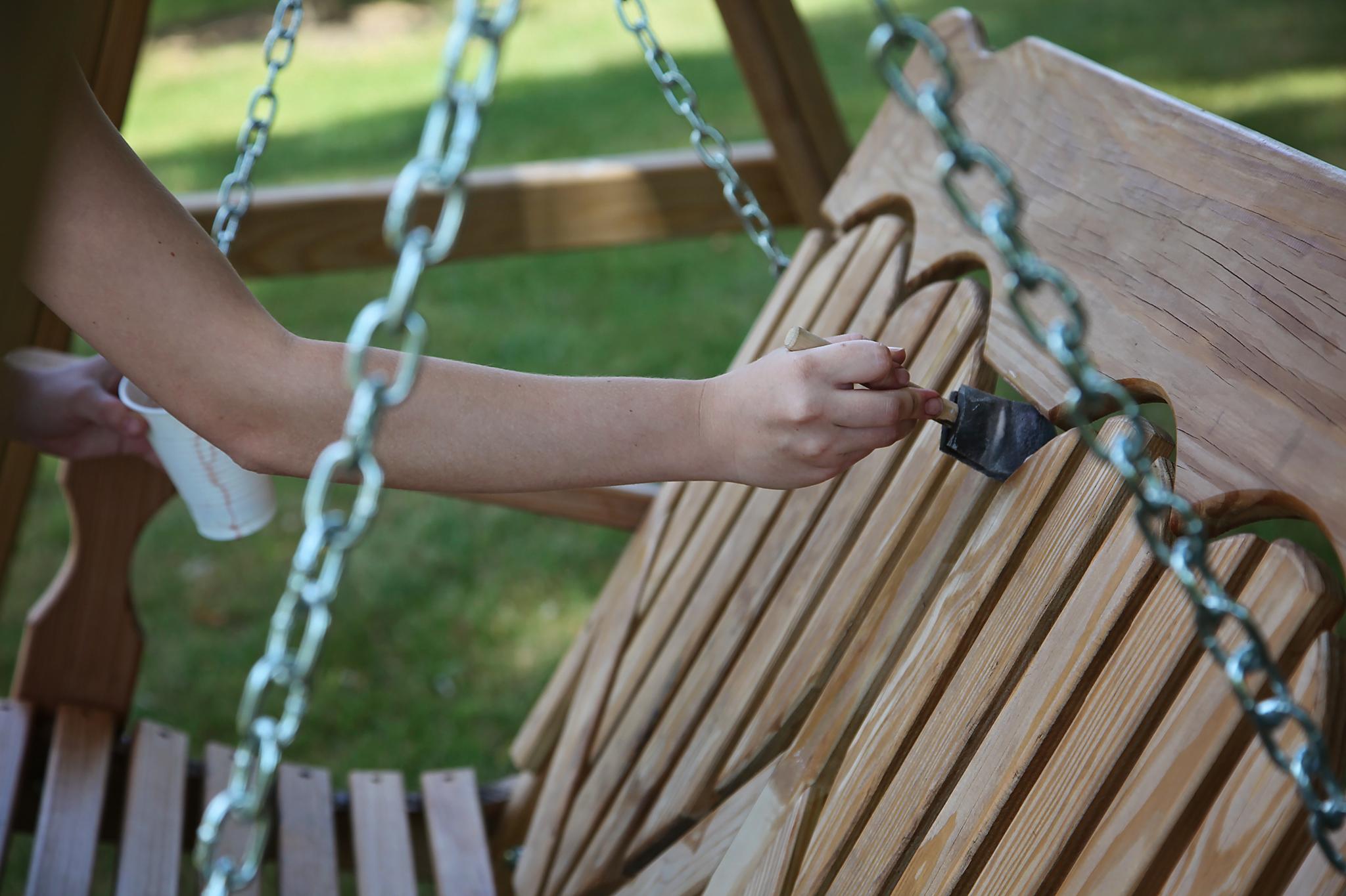 Tutorial: Staining Pressure Treated Pine Furniture ...
